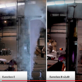 Full Scale Fire Test Façade Membranes Euroclass A2 to Class B /  E